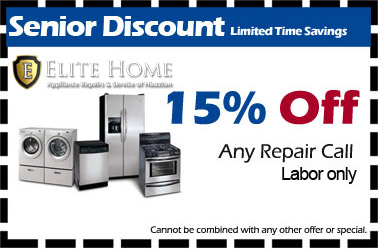 Contact Appliance Repair Senior Discount Coupon